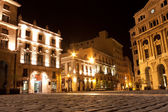 Old Havana illuminated at night — Photo