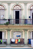 Detail of an ancient building in Old Havana — Stock Photo