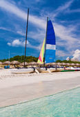 The baeutiful cuban beach of Varadero — Stock Photo