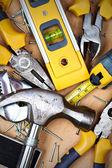 Conjunto de herramientas metálicas — Foto de Stock