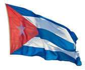 Cuban flag isolated on a white background — Stock Photo