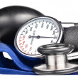 Sphygmomanometer and stethoscope — Photo #8504585