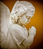 Praying angel — Stock fotografie