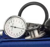 Sphygmomanometer and stethoscope — Stock Photo