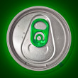 Photo: Top of beer con green background