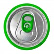 Top of a green beer can isolated on white — Stock Photo #8546760