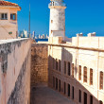 The famous castle of El Morro,a symbol of Havana — Stock Photo