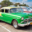 Classic 1955 Chevrolet parked in Havana, Cuba — Stock Photo #8587481