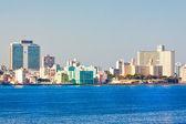 Skyline of Havana seen from the ocean — Stock Photo