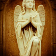 Beautiful vintage image of a praying angel — Stock Photo