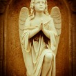 Stock Photo: Beautiful vintage image of a praying angel