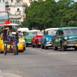 Old classic american cars in the streets of Havana — Stok fotoğraf