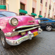 Classic car in front of El Floridita in Havana — Stock Photo #8688383