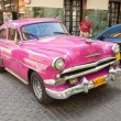 Classic car in front of El Floridita in Havana — Стоковая фотография