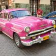 klasické auto před el floridita v Havaně — Stock fotografie