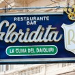 The famous Floridita restaurant in Old Havana — Stok fotoğraf