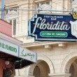 the famous floridita restaurant in old havana — Stock Photo