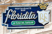 The famous Floridita restaurant in Old Havana — ストック写真