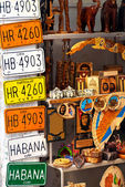 Traditional merchandise for sale in Old Havana — Stock Photo
