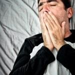 Grunge portrait of a very sick hispanic man — Stock Photo
