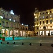 Famous square in Old Havana illuminated at night - Foto Stock