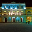 Historical buildings in Old Havana at night — Stock Photo