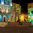 Famous square in Old Havana illuminated at night — Stock Photo