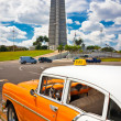 Old car parked at the Revolution Square in Havana — Stock Photo #9084388