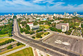 Havana on a a sunny day with the Revolution Square — Stock Photo
