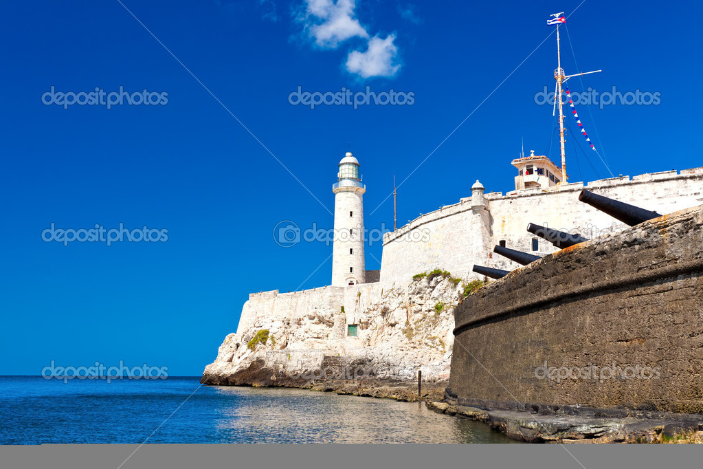 The famous castle and lighthouse of El Morro  in the bay of Havana  Stock Photo #9162796