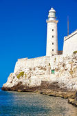 The famous lighthouse of El Morro in Havana — Stock Photo