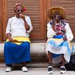 Women in Old Havana smoking cuban cigars — Stock Photo