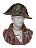 Busto de napoleón aislado en blanco — Foto de Stock