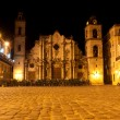 The Cathedral of Havana at night — Stock Photo