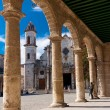 The Cathedral of Havana on a beautiful clear day — Stock Photo #9594020