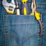 Tools on a pants pocket — Stock Photo