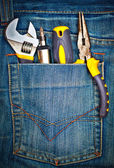 Tools on a pants pocket — Foto de Stock