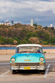 Classic american car parked in Old Havana — Stock Photo