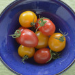 Red and yellow cherry tomatoes — Stock Photo