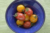 Red and yellow cherry tomatoes — Stock Photo