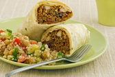 Chicken and Black Bean Burrito Wrap — Stock Photo
