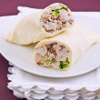 Stock Photo: Chicken Caesar wrap