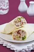 Chicken Caesar wrap — Stock fotografie