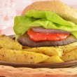 Portabella mushroom burger - Stock Photo
