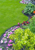 Landscaped Yard and Garden — Stock Photo