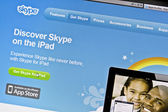 Skype's main page — Stock Photo