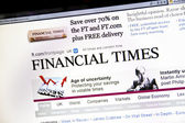 The Financial Times Website — Stock Photo
