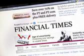 O financial times site — Foto Stock