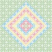 シームレスな花パターン — ストックベクタ