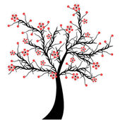 Blossom Cherry — Stock Vector